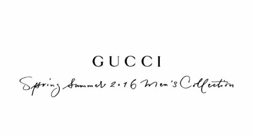 Gucci Men's Spring Summer 2016