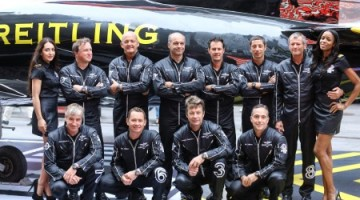 The Breitling Jet Team in Times Square
