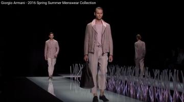 Giorgio Armani 2016 Spring Summer Menswear Collection