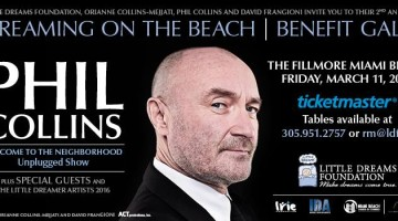 Phil Collins to Headline the 2nd Annual Little Dreams Foundation Benefit Gala