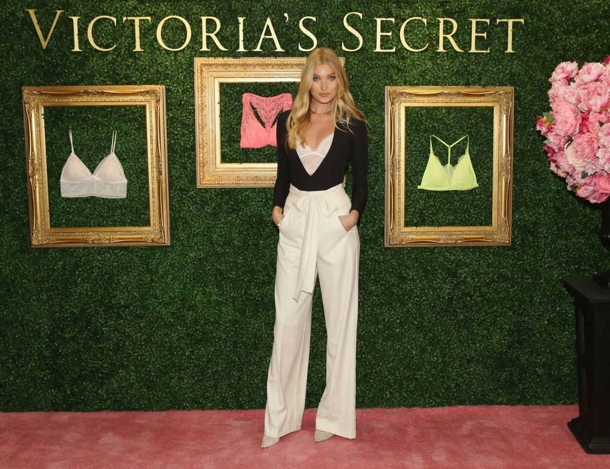 """""""NEW YORK, NEW YORK - APRIL 12: Victoria's Secret Angel Elsa Hosk hosts global media live stream to reveal Bralette Collection & launch multi-city tour at Victoria's Secret Herald Square on April 12, 2016 in New York City (Photo by Cindy Ord/Getty Images for Victoria's Secret)"""""""