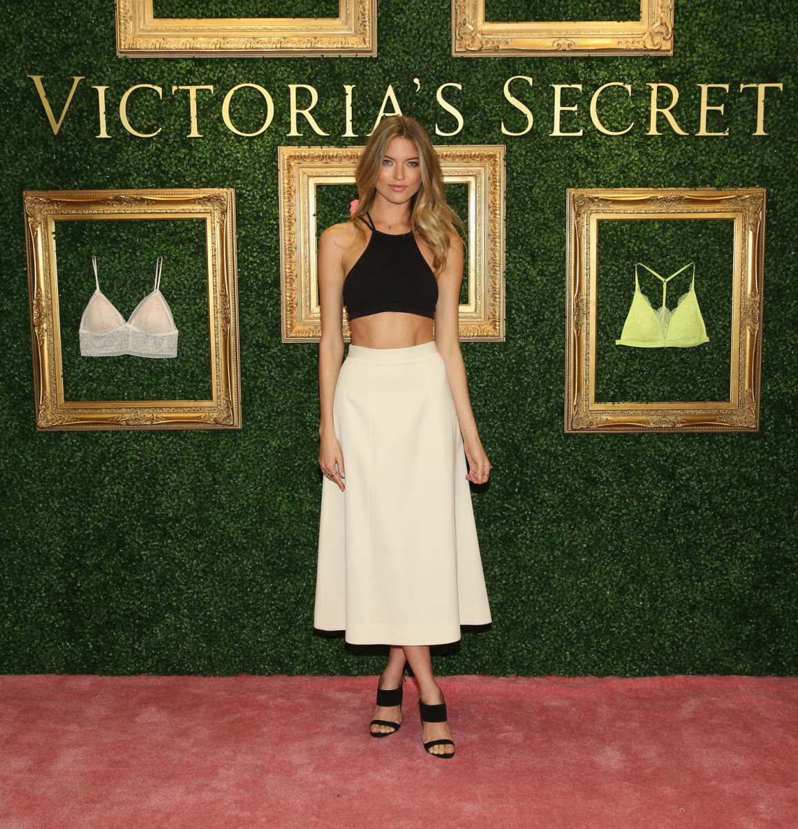 """""""NEW YORK, NEW YORK - APRIL 12: Victoria's Secret Angel Martha Hunt hosts global media live stream to reveal Bralette Collection & launch multi-city tour at Victoria's Secret Herald Square on April 12, 2016 in New York City (Photo by Cindy Ord/Getty Images for Victoria's Secret)"""""""
