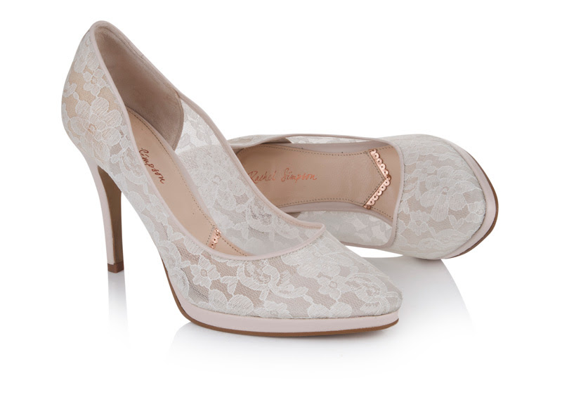 Suede court Scarlett and sheer lace Francesca