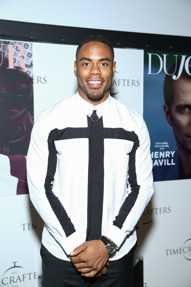 Rashad Jennings attends Timecrafters opening night at Park Avenue Armory on May 12, 2016 in New York City.Credit: John Nacion Imaging