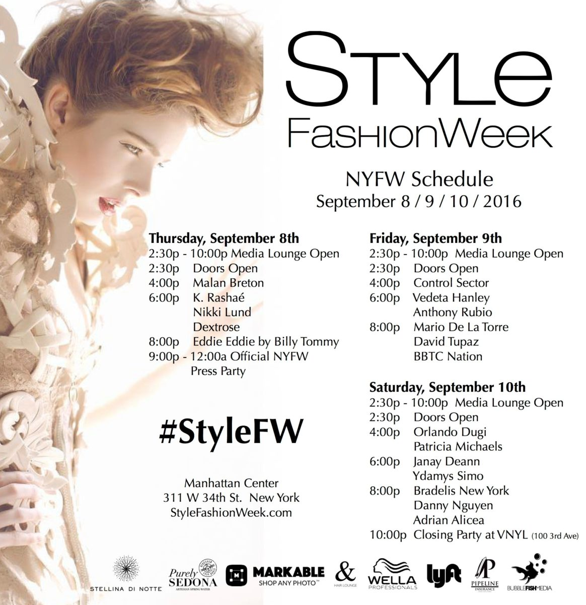 Style Fashion Week - NYFW Schedule