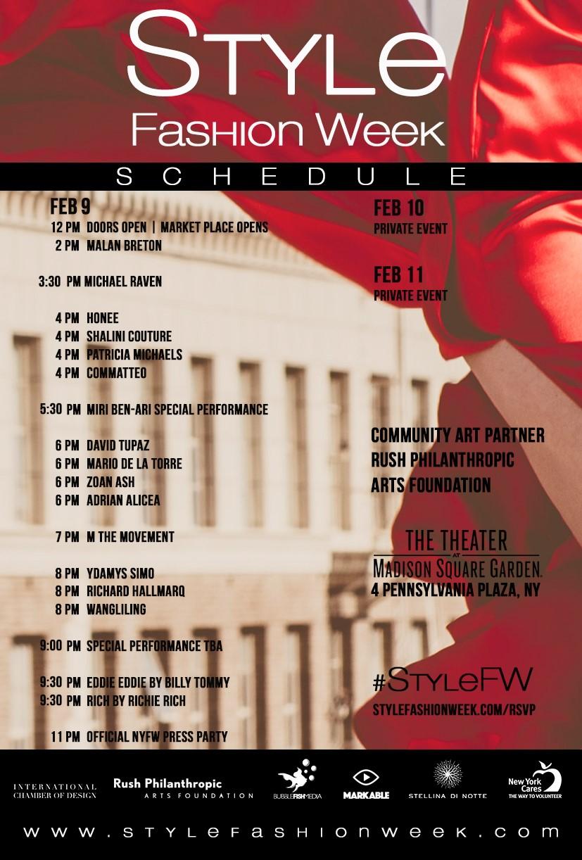 Style Fashion Week New York Fashion Week Fw17 Schedule