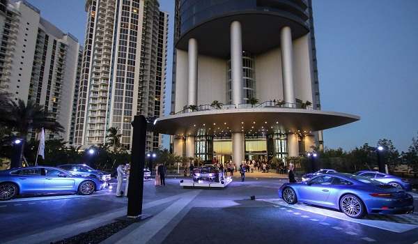 Porsche Design Tower Miami on March 18, 2017 in Miami Beach, Florida