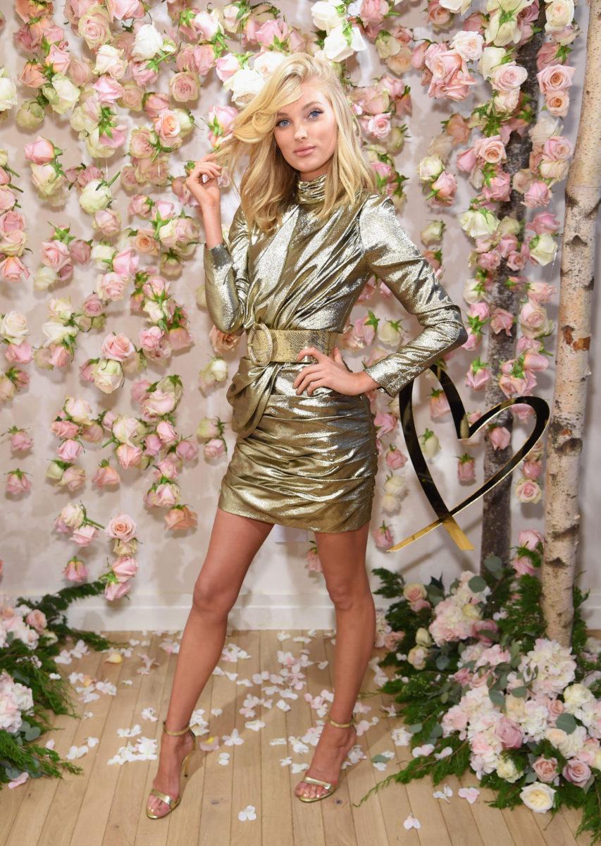 Victoria's Secret Angels Josephine Skriver and Elsa Hosk celebrate the all-new LOVE fragrance on September 7, 2017 in New York City