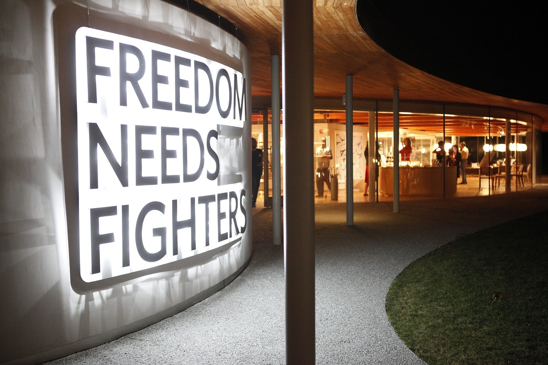 Unchain campaign slogan Freedom Needs Fighters
