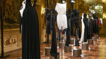 Azzedine Alaïa's exhibition at Palazzo Clerici's Golden Room in Milan