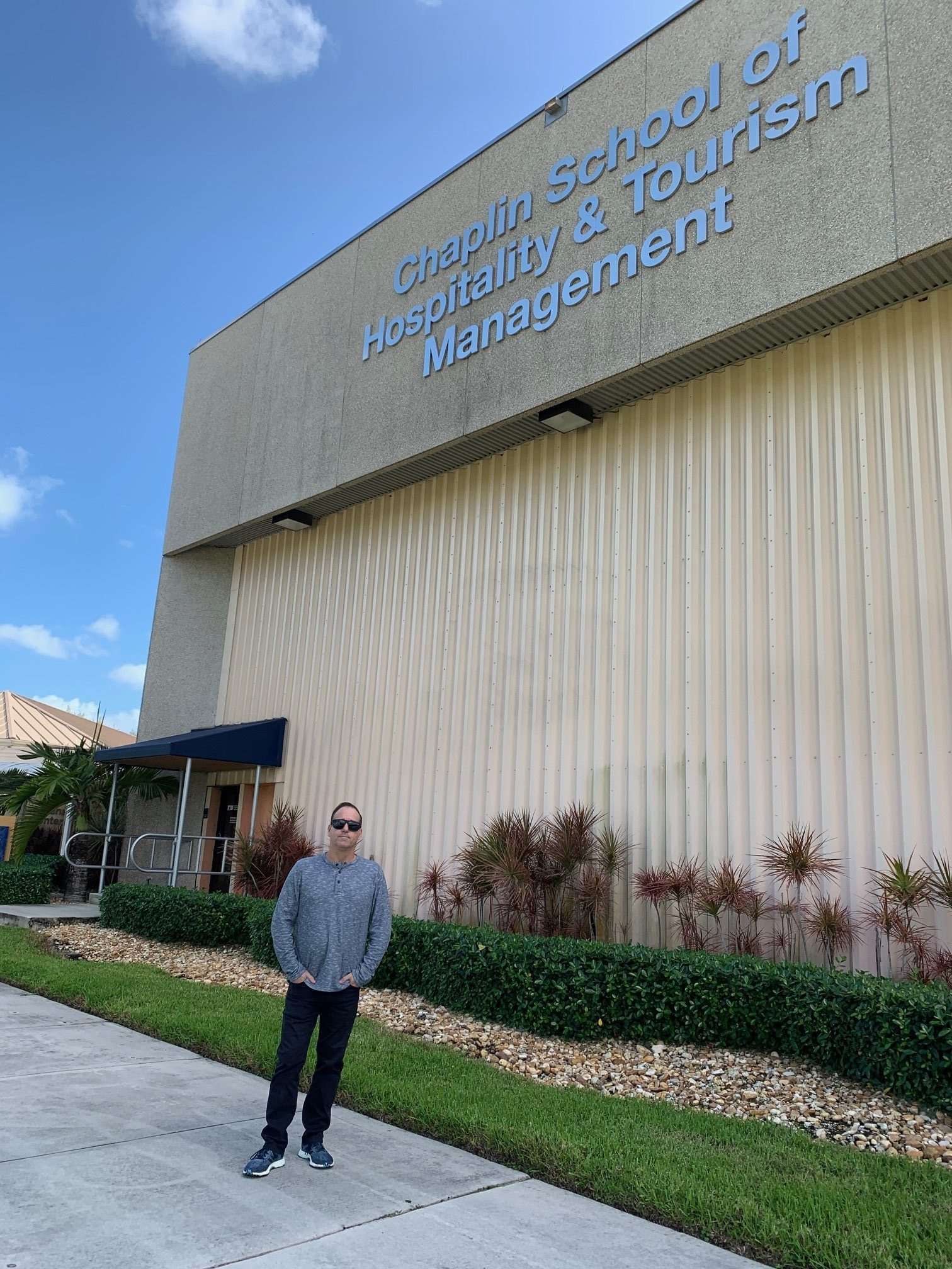 David Gordon, chefwine expert entering FIU Chaplin School of Hospitality for Private Press Judging