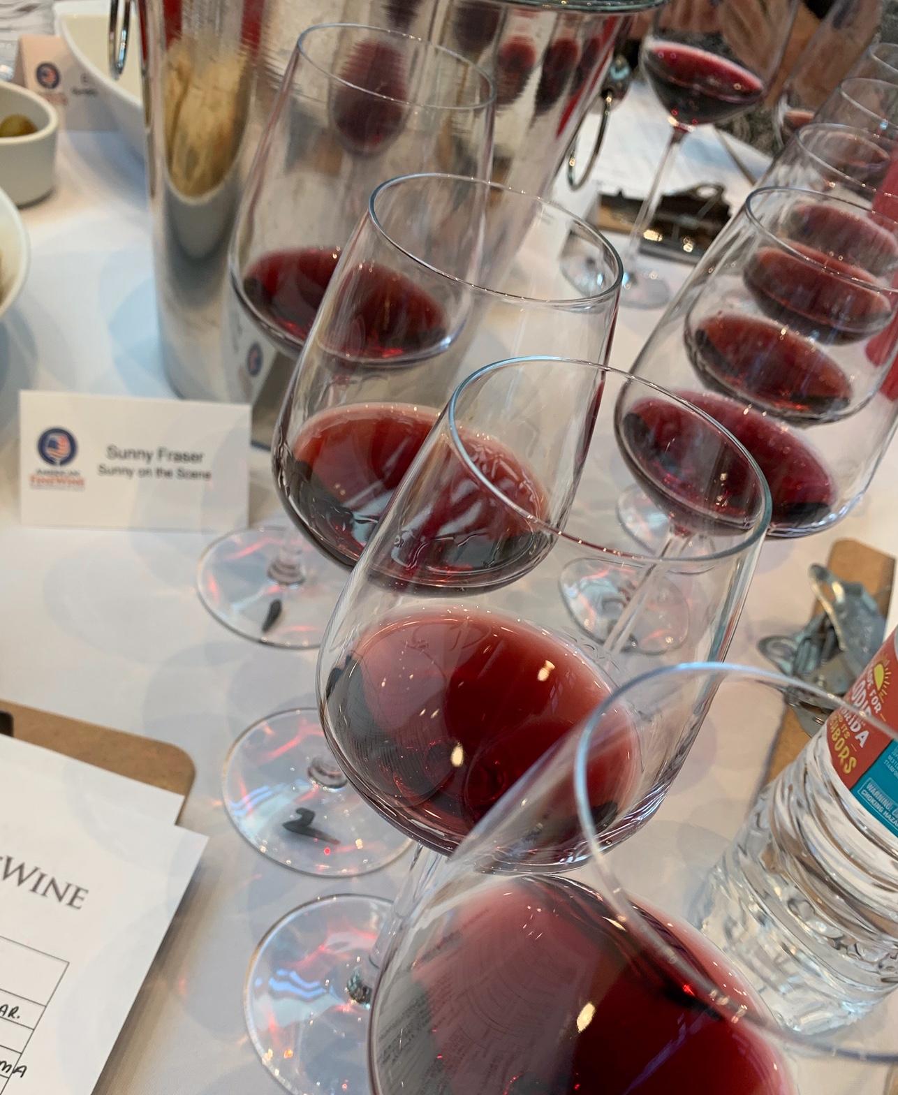 Wine flight set-up
