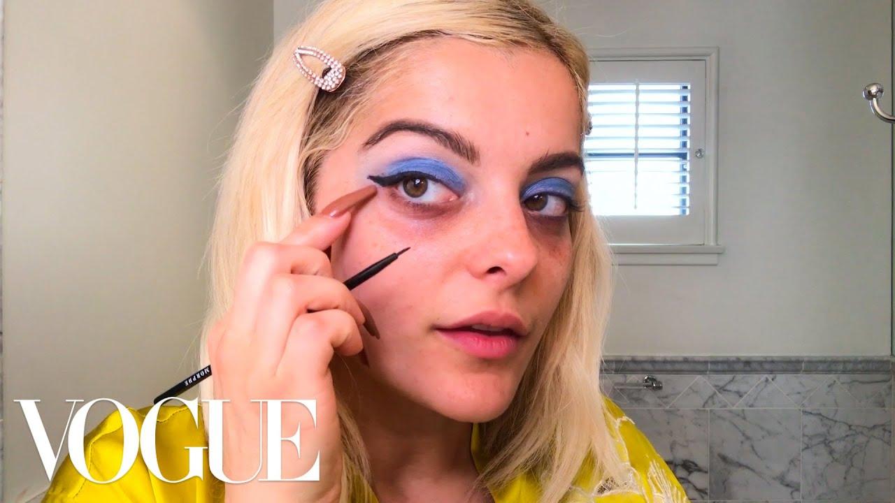 Bebe Rexha's Dark Circles Solution & Guide to Blue Eyeshadow | Beauty Secrets | Vogue