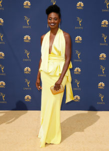 Adina Porter arrives at the 70th Primetime Emmy Awards on Monday, Sept. 17, 2018, at the Microsoft Theater in Los Angeles. Photo by Danny Moloshok