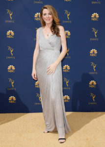 Annabel Jones arrives at the 70th Primetime Emmy Awards on Monday, Sept. 17, 2018, at the Microsoft Theater in Los Angeles. Photo by Danny Moloshok
