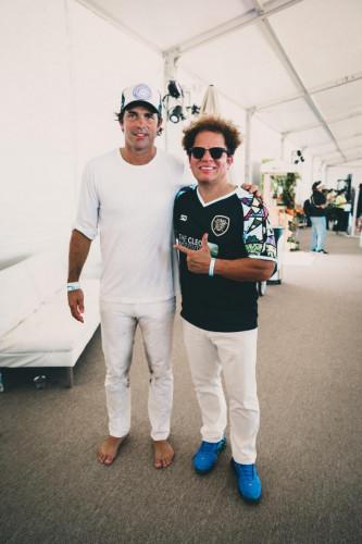 Nacho Figueras and Romero Britto at World Polo League Beach Polo 2021 Credit Willy Dade (1)