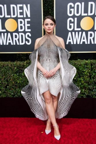 Nominee, Joey King, arrives at the 77th Annual Golden Globe Awards at the Beverly Hilton in Beverly Hills, CA on Sunday, January 5, 2020.