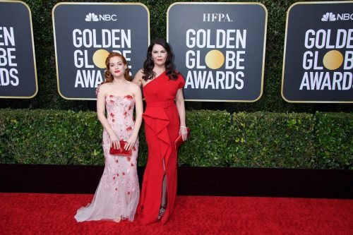 Jane Levy and Lauren Graham arrive at the 77th Annual Golden Globe Awards at the Beverly Hilton in Beverly Hills, CA on Sunday, January 5, 2020.