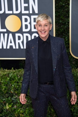 Carol Burnett Award winner, Ellen DeGeneres, arrives at the 77th Annual Golden Globe Awards at the Beverly Hilton in Beverly Hills, CA on January 5, 2020.