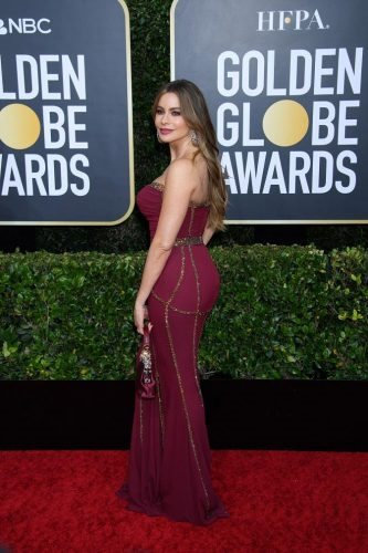 Sofia Vergara arrives at the 77th Annual Golden Globe Awards at the Beverly Hilton in Beverly Hills, CA on Sunday, January 5, 2020.