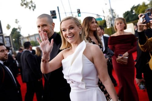 Nominee, Reese Witherspoon, arrives at the 77th Annual Golden Globe Awards at the Beverly Hilton in Beverly Hills, CA on Sunday, January 5, 2020.