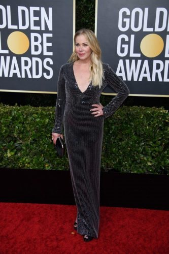 Nominee Christina Applegate arrives at the 77th Annual Golden Globe Awards at the Beverly Hilton in Beverly Hills, CA on Sunday, January 5, 2020.