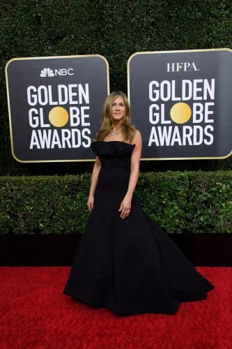 Nominee Jennifer Aniston arrives at the 77th Annual Golden Globe Awards at the Beverly Hilton in Beverly Hills, CA on Sunday, January 5, 2020.