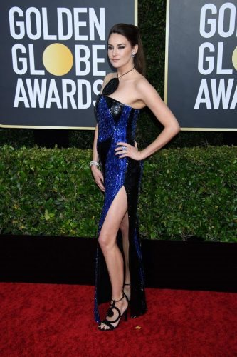 Shailene Woodley arrives at the 77th Annual Golden Globe Awards at the Beverly Hilton in Beverly Hills, CA on Sunday, January 5, 2020.