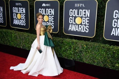 Nominee Jennifer Lopez arrives at the 77th Annual Golden Globe Awards at the Beverly Hilton in Beverly Hills, CA on Sunday, January 5, 2020.