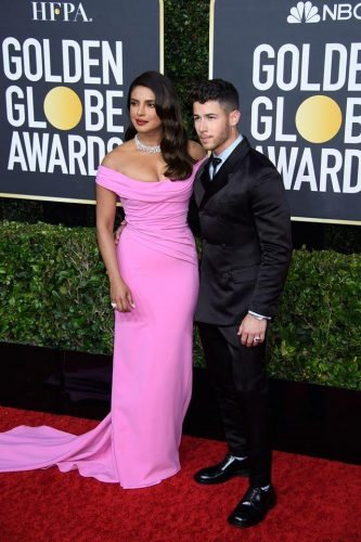 Jonas and Nick Jonas arrive at the 77th Annual Golden Globe Awards at the Beverly Hilton in Beverly Hills, CA on Sunday, January 5, 2020.