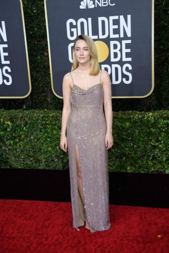 Saoirse Ronan arrives at the 77th Annual Golden Globe Awards at the Beverly Hilton in Beverly Hills, CA on Sunday, January 5, 2020.