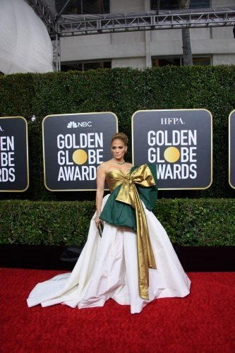 Nominee, Jennifer Lopez, arrives at the 77th Annual Golden Globe Awards at the Beverly Hilton in Beverly Hills, CA on Sunday, January 5, 2020.