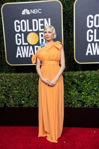 Nominee, Michelle Williams, arrives at the 77th Annual Golden Globe Awards at the Beverly Hilton in Beverly Hills, CA on Sunday, January 5, 2020.