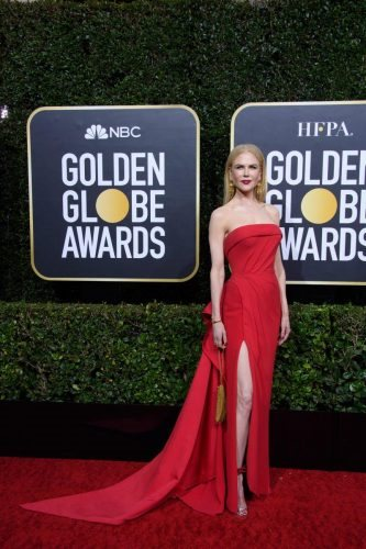 Nominee, Nicole Kidman, arrives at the 77th Annual Golden Globe Awards at the Beverly Hilton in Beverly Hills, CA on Sunday, January 5, 2020.