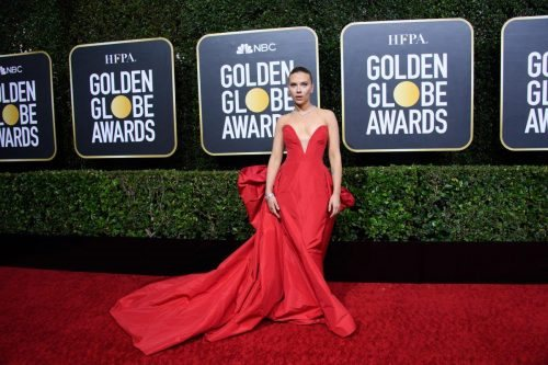 Nominee, Scarlett Johansson, arrives at the 77th Annual Golden Globe Awards at the Beverly Hilton in Beverly Hills, CA on Sunday, January 5, 2020.