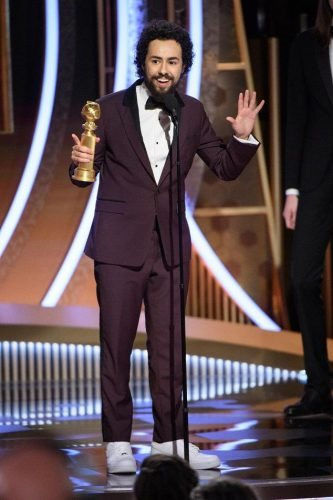 Ramy Youssef accepts the award for Best Performance by an Actor in a Television Series - Musical or Comedy at the 77th Annual Golden Globe Awards at the Beverly Hilton in Beverly Hills, CA on Sunday, January 5, 2020.