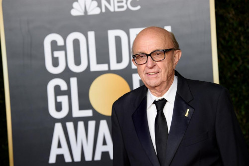 HFPA President Ali Sar arrives at the 78th Annual Golden Globe Awards at the Beverly Hilton in Beverly Hills, CA on Sunday, February 28, 2021.