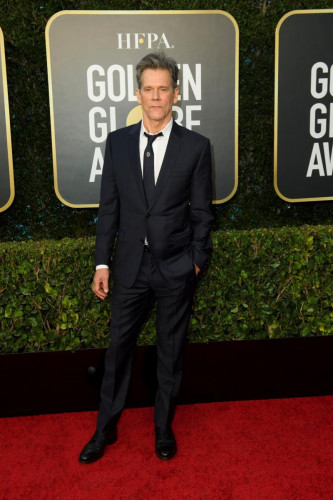 Kevin Bacon arrives at the 78th Annual Golden Globe Awards at the Beverly Hilton in Beverly Hills, CA on Sunday, February 28, 2021.