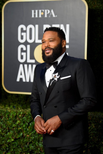 Anthony Anderson arrives at the 78th Annual Golden Globe Awards at the Beverly Hilton in Beverly Hills, CA on Sunday, February 28, 2021.