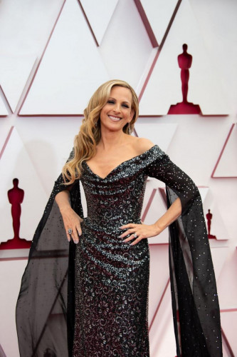 Marlee Matlin arrives on the red carpet of The 93rd Oscars at Union Station in Los Angeles, CA on Sunday, April 25, 2021.