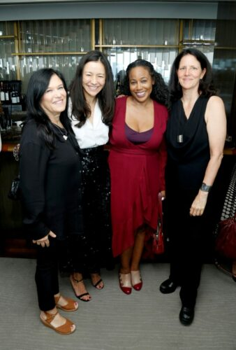 (L-R) Barbara Kopple, Elizabeth Chai Vasarhelyi, Sabrina Schmidt Gordon, and Laura Poitras attend the Academy of Motion Picture Arts & Sciences' Women's Initiative New York luncheon