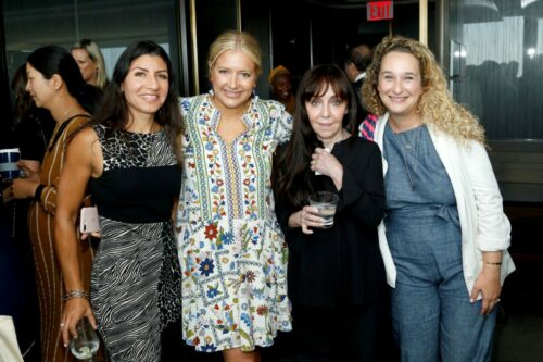 (L-R) Jannat Gargi, Daniela Taplin Lundberg, Bonnie Timmerman, and Riga Marker attend the Academy of Motion Picture Arts & Sciences' Women's Initiative New York luncheon