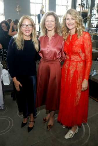 (L-R) Tracy Collins, Dawn Hudson and Laura Dern attend the Academy of Motion Picture Arts & Sciences' Women's Initiative New York luncheon