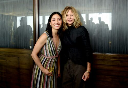 Constance Wu and Meg Ryan attend the Academy of Motion Picture Arts & Sciences' Women's Initiative New York luncheon