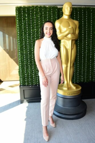 Eliana Pipes attends the Academy of Motion Picture Arts & Sciences' Women's Initiative New York luncheon