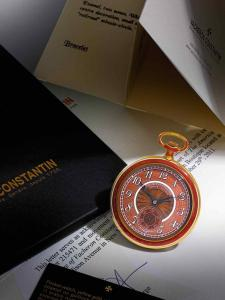 9697 Vacheron Constantin, Fine and Rare Yellow Gold and Enamel Open Faced Watch preview