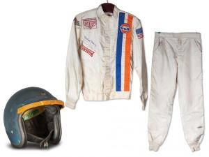 Hinchman Race Suit and Bell Helmet worn by Steve McQueen in Le Mans Courtesy of RM Sotheby's preview