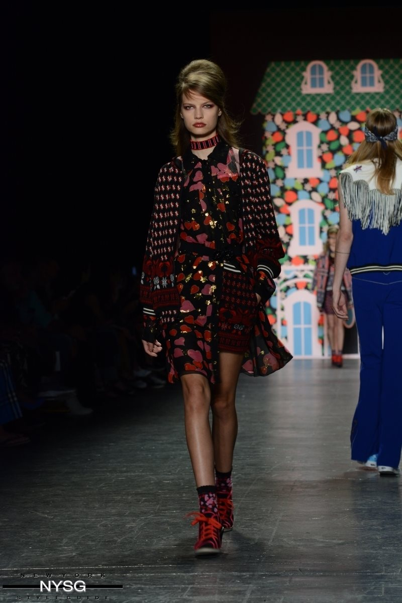 Anna Sui Spring Summer 2017 Collection On The Runway At New York Fashion Week