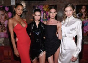Lais Ribeiro, Sara Sampaio, Martha Hunt, Gigi Hadid at US Book Launch of Backstage Secrets by Russell James