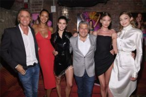 Russell James, Lais Ribeiro, Sara Sampaio, Ed Razek, Martha Hunt, Gigi Hadid at US Book Launch of Backstage Secrets by Russell James